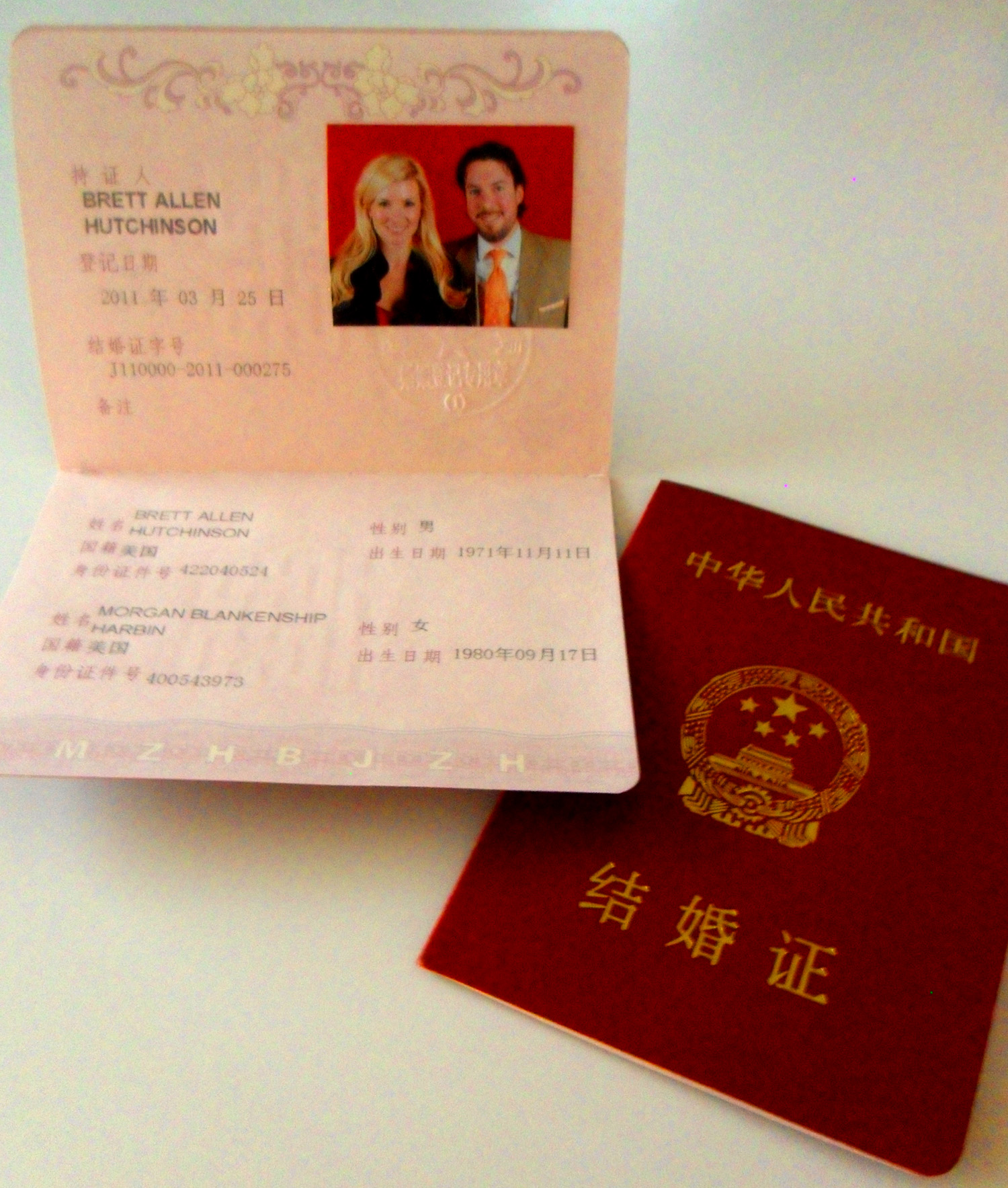May 2011 a blonde in beijing our super cute chinese marriage certificates yadclub Images