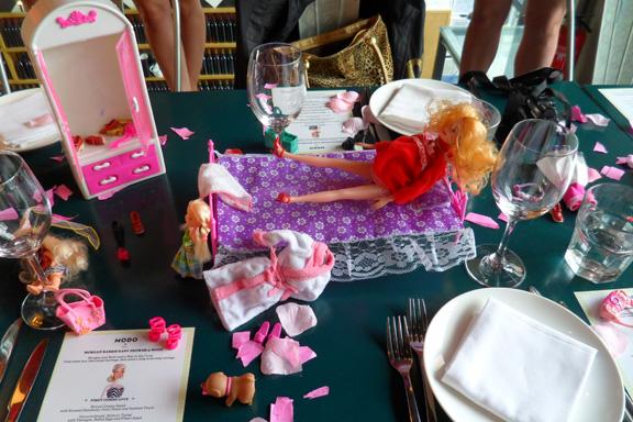 Preggers Barbie Centerpiece