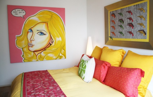 Master Bedroom and inspiration for A Blonde in Beijing artwork.