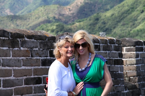 With mom on the Great Wall