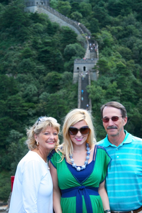 With Mom and Joe on the Great Wall.  My last visit to this wonder of the world.