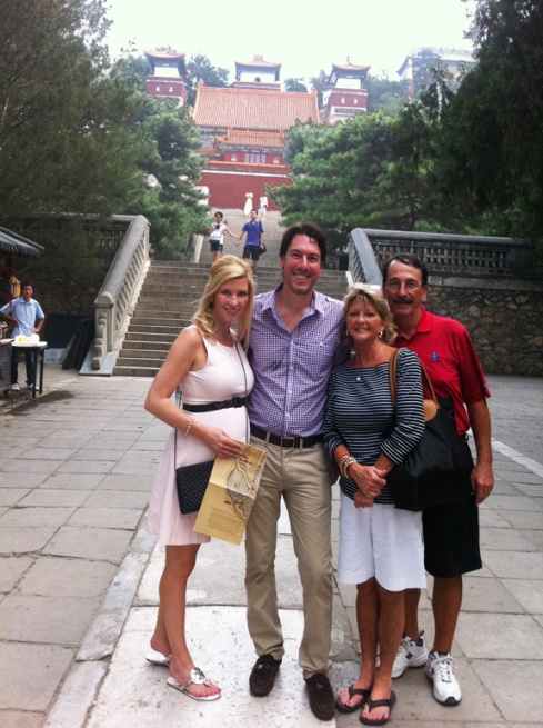 With Mom and Joe at the Summer Palace