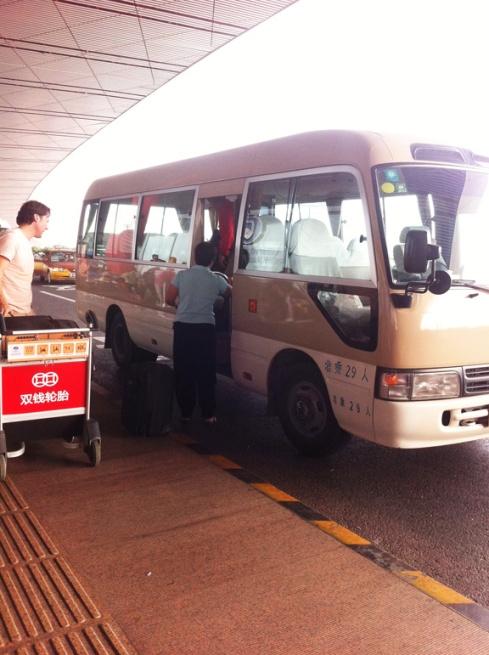 van with luggage